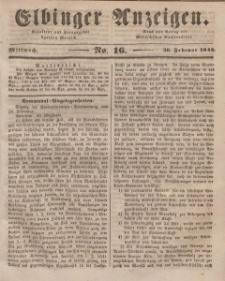 Elbinger Anzeigen, Nr. 16. Mittwoch, 26. Februar 1845