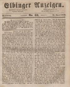 Elbinger Anzeigen, Nr. 32. Mittwoch, 23. April 1845