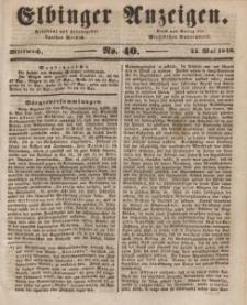 Elbinger Anzeigen, Nr. 40. Mittwoch, 21. Mai 1845