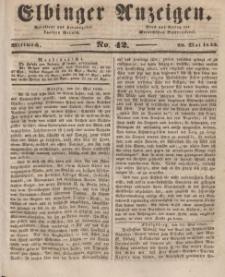 Elbinger Anzeigen, Nr. 42. Mittwoch, 28. Mai 1845