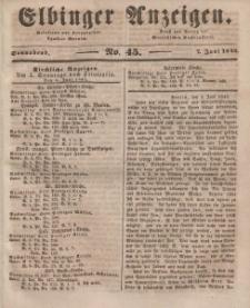 Elbinger Anzeigen, Nr. 45. Sonnabend, 7. Juni 1845