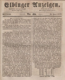 Elbinger Anzeigen, Nr. 48. Mittwoch, 18. Juni 1845