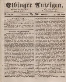 Elbinger Anzeigen, Nr. 56. Mittwoch, 16. Juli 1845