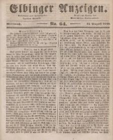Elbinger Anzeigen, Nr. 64. Mittwoch, 13. August 1845