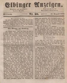 Elbinger Anzeigen, Nr. 68. Mittwoch, 27. August 1845