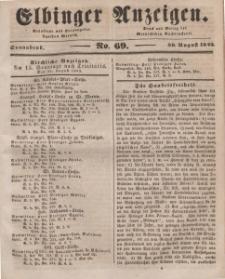 Elbinger Anzeigen, Nr. 69. Sonnabend, 30. August 1845