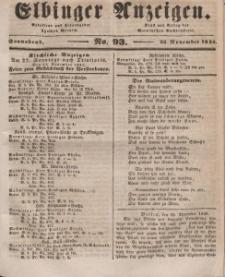 Elbinger Anzeigen, Nr. 93. Sonnabend, 22. November 1845