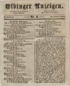 Elbinger Anzeigen, Nr. 3. Sonnabend, 10. Januar 1846