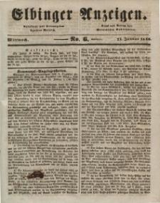 Elbinger Anzeigen, Nr. 6. Mittwoch, 21. Januar 1846