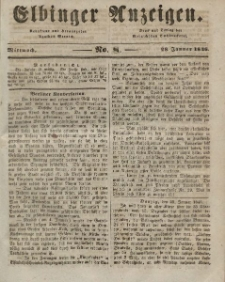 Elbinger Anzeigen, Nr. 7. Sonnabend, 24. Januar 1846