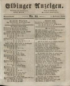 Elbinger Anzeigen, Nr. 11. Sonnabend, 7. Februar 1846