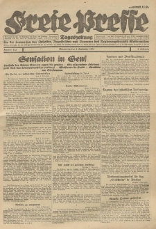 Freie Presse, Nr. 127 Donnerstag 8. September 1927 3. Jahrgang
