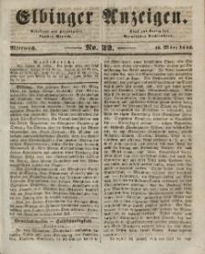 Elbinger Anzeigen, Nr. 22. Mittwoch, 18. März 1846