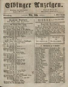 Elbinger Anzeigen, Nr. 36. Dienstag, 5. Mai 1846