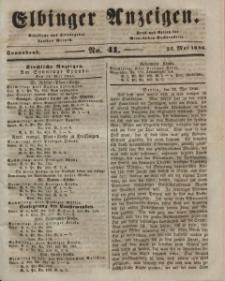Elbinger Anzeigen, Nr. 41. Sonnabend, 23. Mai 1846