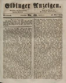 Elbinger Anzeigen, Nr. 42. Mittwoch, 27. Mai 1846