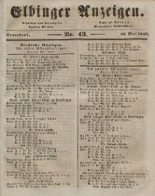 Elbinger Anzeigen, Nr. 43. Sonnabend, 30. Mai 1846