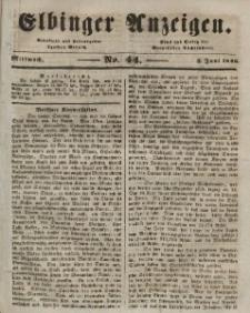 Elbinger Anzeigen, Nr. 44. Mittwoch, 3. Juni 1846