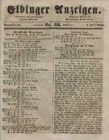 Elbinger Anzeigen, Nr. 53. Sonnabend, 4. Juli 1846