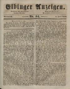 Elbinger Anzeigen, Nr. 54. Mittwoch, 8. Juli 1846