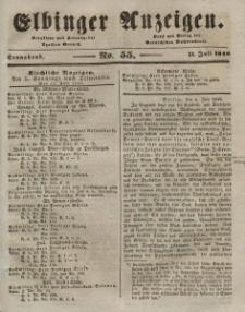 Elbinger Anzeigen, Nr. 55. Sonnabend, 11. Juli 1846