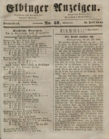 Elbinger Anzeigen, Nr. 57. Sonnabend, 18. Juli 1846