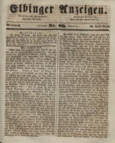 Elbinger Anzeigen, Nr. 60. Mittwoch, 29. Juli 1846