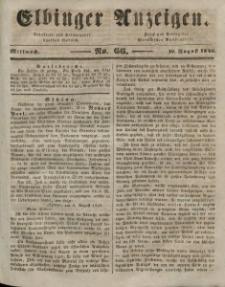 Elbinger Anzeigen, Nr. 66. Mittwoch, 19. August 1846