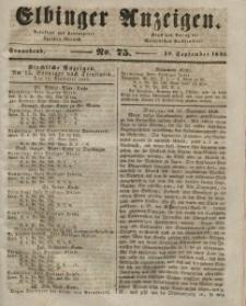 Elbinger Anzeigen, Nr. 75. Sonnabend, 19. September 1846