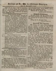 Elbinger Anzeigen, Nr. 78. Mittwoch, 30. September 1846