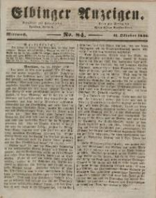 Elbinger Anzeigen, Nr. 84. Mittwoch, 21. Oktober 1846