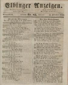 Elbinger Anzeigen, Nr. 85. Sonnabend, 24. Oktober 1846