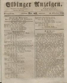 Elbinger Anzeigen, Nr. 87. Sonnabend, 31. Oktober 1846