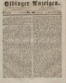 Elbinger Anzeigen, Nr. 88. Mittwoch, 4. November 1846