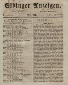 Elbinger Anzeigen, Nr. 89. Sonnabend, 7. November 1846