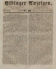 Elbinger Anzeigen, Nr. 90. Mittwoch, 11. November 1846