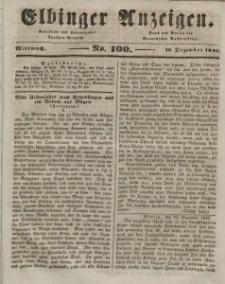 Elbinger Anzeigen, Nr. 100. Mittwoch, 16. Dezember 1846