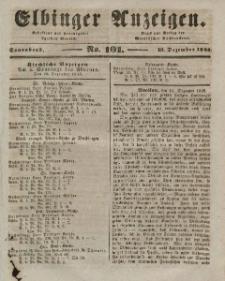 Elbinger Anzeigen, Nr. 101. Sonnabend, 19. Dezember 1846