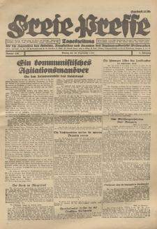 Freie Presse, Nr. 136 Montag 19. September 1927 3. Jahrgang