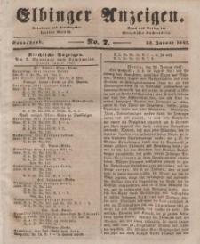 Elbinger Anzeigen, Nr. 7. Sonnabend, 23. Januar 1847