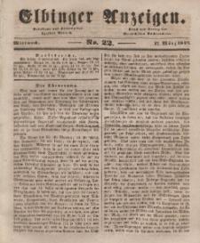 Elbinger Anzeigen, Nr. 22. Mittwoch, 17. März 1847