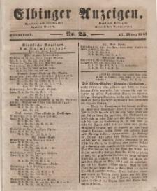Elbinger Anzeigen, Nr. 25. Sonnabend, 27. März 1847
