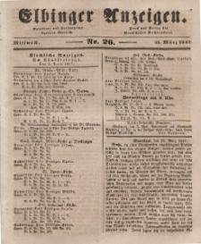 Elbinger Anzeigen, Nr. 26. Mittwoch, 31. März 1847