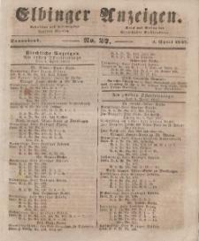 Elbinger Anzeigen, Nr. 27. Sonnabend, 3. April 1847