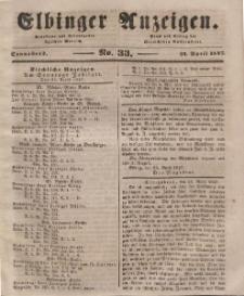 Elbinger Anzeigen, Nr. 33. Sonnabend, 24. April 1847
