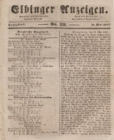 Elbinger Anzeigen, Nr. 39. Sonnabend, 15. Mai 1847
