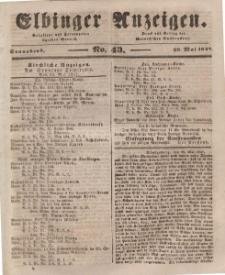 Elbinger Anzeigen, Nr. 43. Sonnabend, 29. Mai 1847