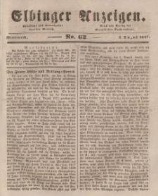 Elbinger Anzeigen, Nr. 62. Mittwoch, 4. August 1847
