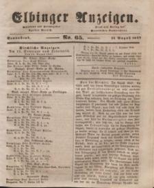 Elbinger Anzeigen, Nr. 65. Sonnabend, 14. August 1847