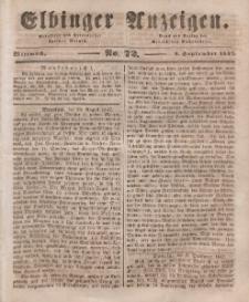 Elbinger Anzeigen, Nr. 72. Mittwoch, 8. September 1847